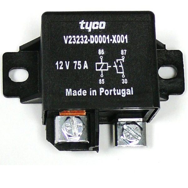 Tyco 12 Volt 75 Amp Relay, EV West - Electric Vehicle Parts ... Dc Amp V Relay Wiring on automotive relay wiring, single pole relay wiring, 12 volt relay wiring,