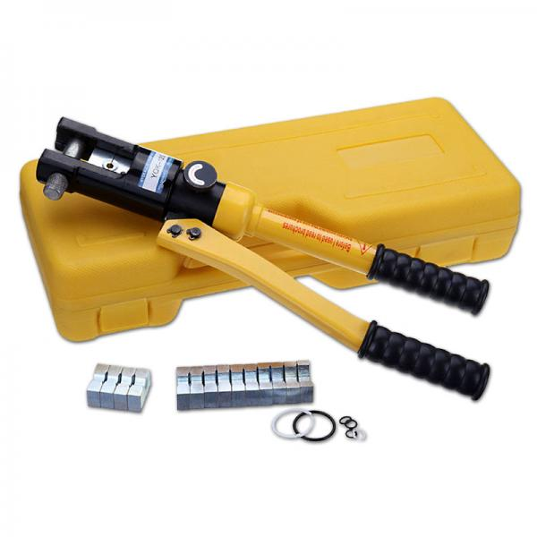 High Voltage Crimp Terminals : Hexagonal hydraulic crimper for high voltage cable ring