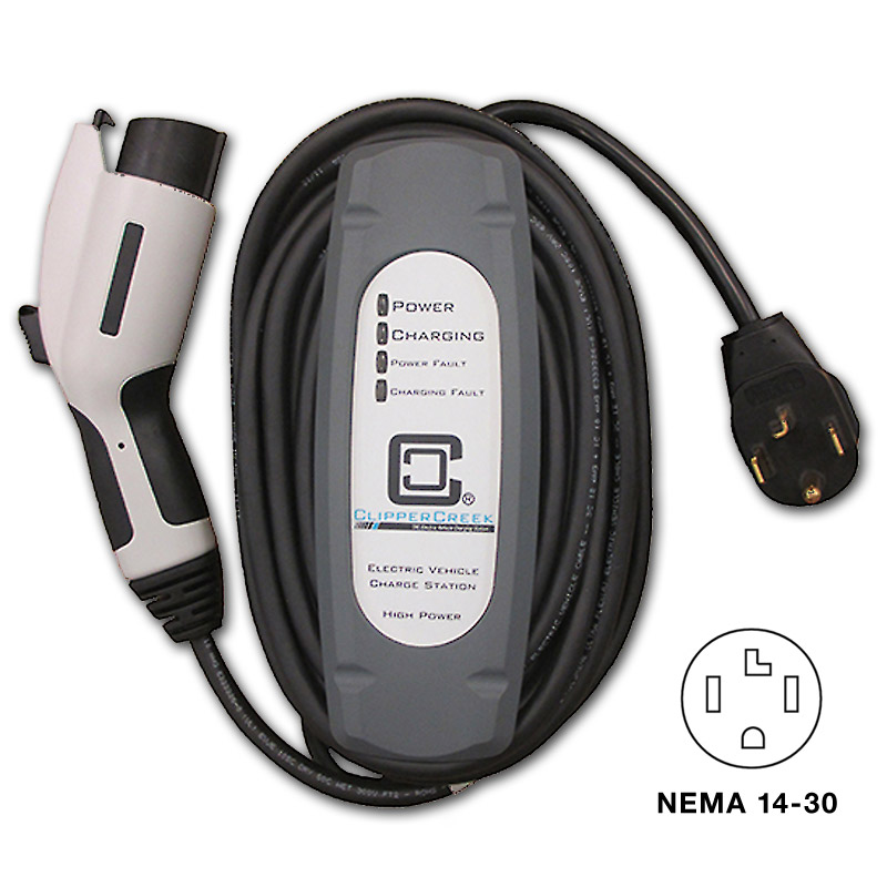Clipper Creek Lcs 25 Level 2 Charge Station Nema 14 30 Plug Evse